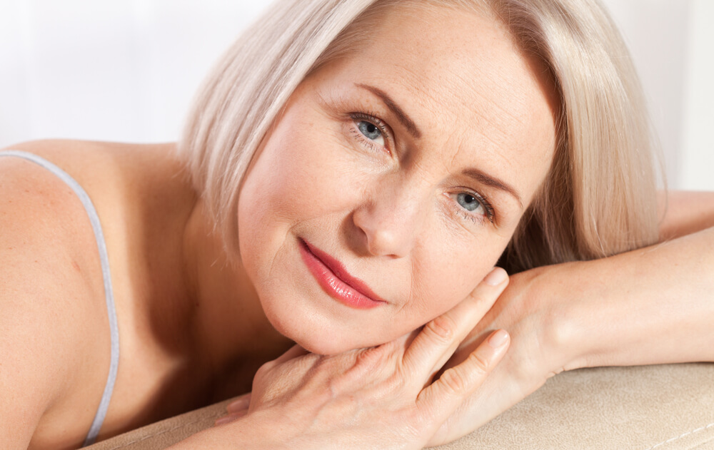 older woman with smooth skin after botox