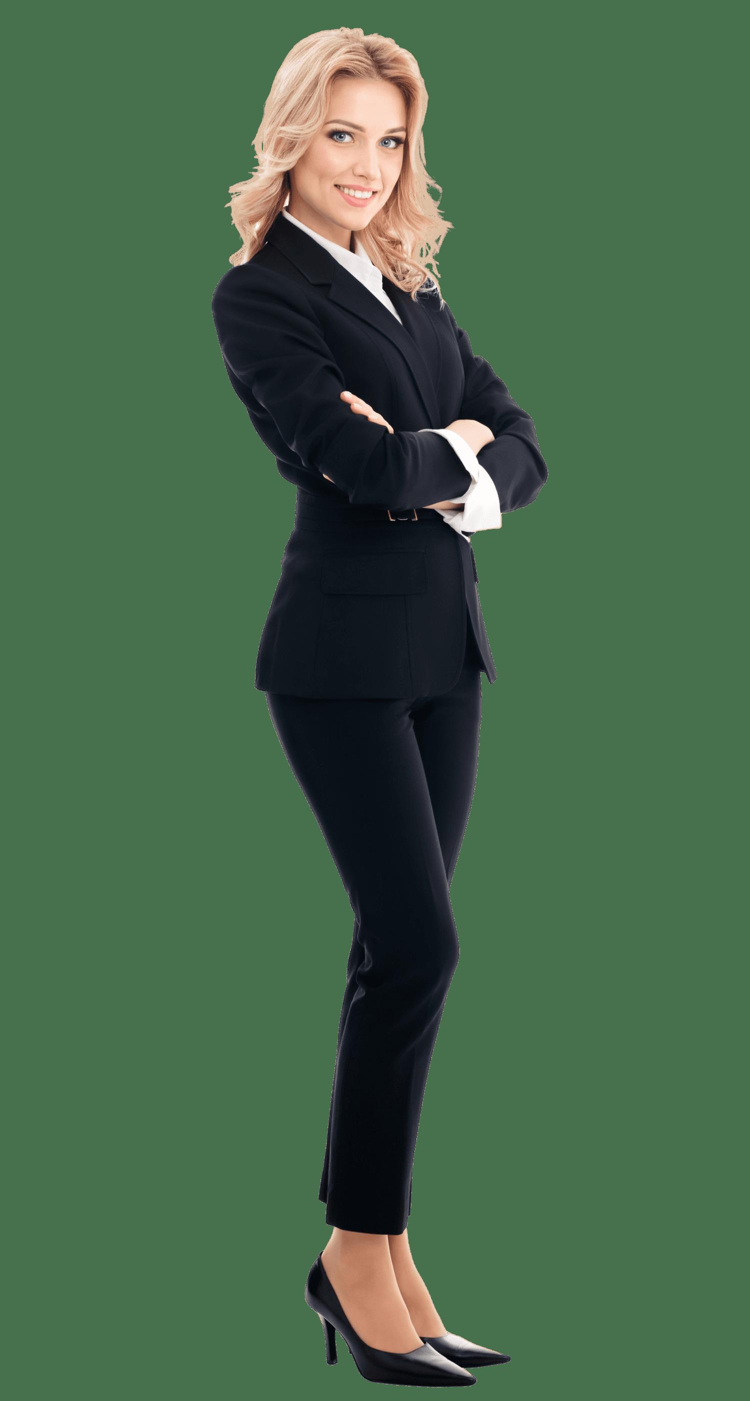 Business woman (transparent background)
